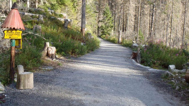 Spaceorwa droga, w prawo do Rainerowej Chatki.