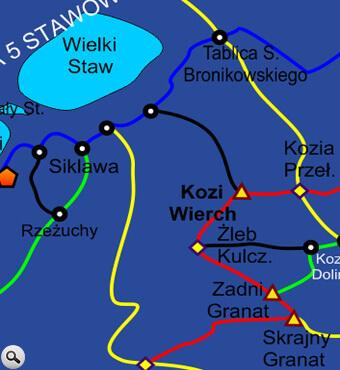Szlak na Kozią Przełęcz