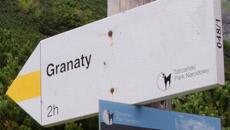 Żółty szlak na Skrajny Granat.