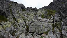 Przed nami kolejne głazy i skały.