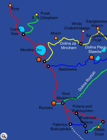 Szlak do Morskiego Oka z Palenicy Białczańskiej