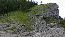 Dość stromy fragment szlaku.