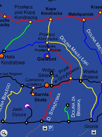 Szlak na Giewont z Doliny Strążyskiej.